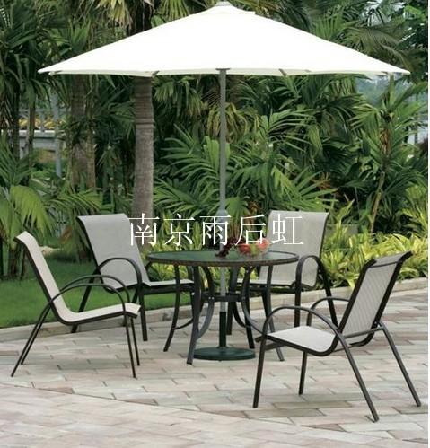 户外桌椅伞组合